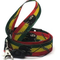 Lanyard Key Strap Id Holder Rasta Freedom