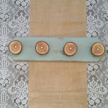 Wood Wall Hook, Natural Wood Rounds, Rustic Wall Hook, Shabby Chic Wall Hook, Coat Rack, Towel Rack, Leash Rack, Jewelry Rack, Necklace Rack
