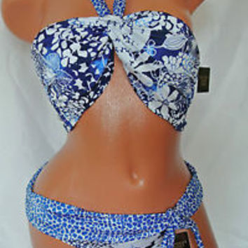 Victoria's Secret Swim Bikini Embellished Large Top with Medium Bottom NWT