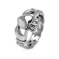 **LEAD FREE** Stainless Steel Celtic Knot Claddagh Wedding Ring Band for Men (Sizes 9 to 12)