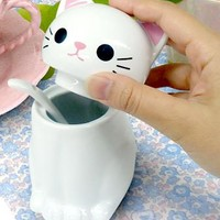 Cat Anything Pot (White)