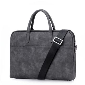 Fashion PU Leather Laptop bag 15.6 15 14 13.3 13 inch Women Messenger Shoulder Notebook bag 17.3 inch High quality luxury