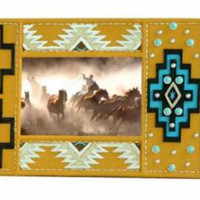 Aztec Pattern Resin Photo Frame