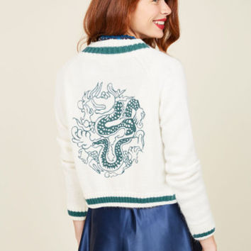 Just the Fortuitous Cardigan in Ivory | Mod Retro Vintage Vests | ModCloth.com