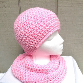 Alpaca beanie and scarf - Womens hat set - Crochet hat and scarf - Alpaca beanie set - Chunky scarf set - Teens beanie