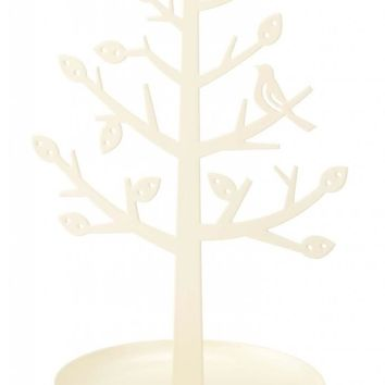 Decorative White Jewelry Tree Stand Jewelry Holder for Rings, Bracelets, Necklaces and Earrings