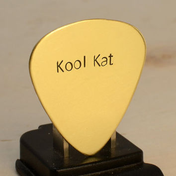 Kool Kat Handmade Brass Guitar Pick for Groovy Vibes