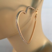 All That Glitters Heart Hoops
