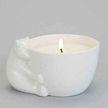Ceramic Polar Bear Candle- Cozy Blanket One