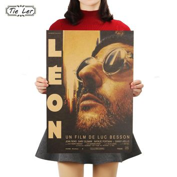 TIE LER Leon Classic Movie Bar Dorm Cafe Decorative Furnishing Painting Wall Stickers 36 X 51.5cm