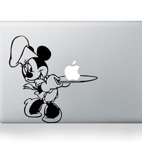 Minnie Mouse Macbook Decals, Disney Minnie Mac Decals, Macbook Stickers, Laptop Decal, Macbook Pro Air Vinyl Decal, iPad Decal Stickers z