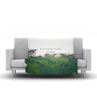 "Ann Barnes ""Adventure is Waiting"" Mountain Fleece Throw Blanket"