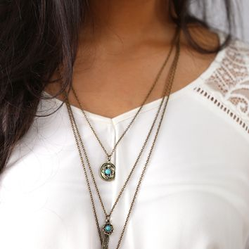 Heather Layered Chain Necklace