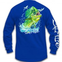 Mahi Head Long Sleeve Pocket Tee