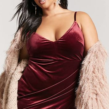 Plus Size Velvet Tulip Dress