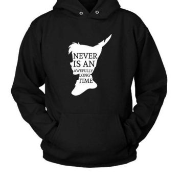 Peter Pan Quote Silhouette Hoodie Two Sided
