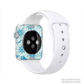 The Blue Nautical Collage V5 Full-Body Skin Kit for the Apple Watch