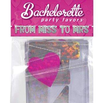 Bachelorette Party Favors From Miss To Mrs Banner