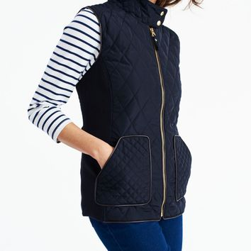 Braemar Marine Navy Quilted Vest | Joules US