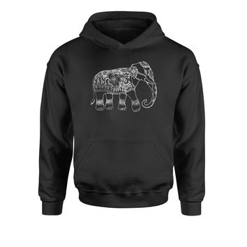 Sacred Elephant Distressed Look Youth-Sized Hoodie