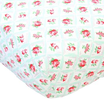 Retro Florals Annette - Crib Sheet