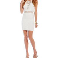 B. Darlin Illusion Waist Lace Dress | Dillards