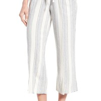 Wit & Wisdom Drawstring Stripe Crop Sailor Pants (Regular & Petite) (Nordstrom Exclusive) | Nordstrom