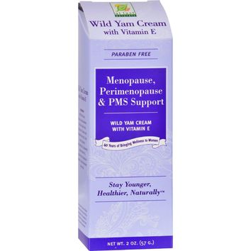 At Last Naturals Wild Yam Cream With Vitamin E - 2 Oz