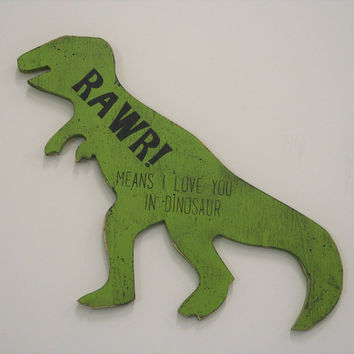 Boys Nursery Decor Dinosaur Nursery Boys Room Decor Dinosaur Room Decor Wood Sign Rustic Nursery Baby Shower Gift Lime Green Nursery Decor