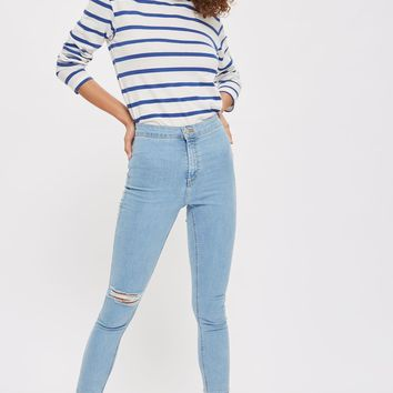 MOTO One Knee Rip Joni Jeans - Jeans - Clothing