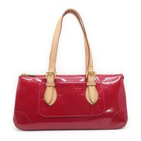 Louis Vuitton Vernis Rosewood Avenue Shoulder Bag Wine Red 8766