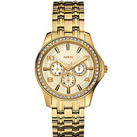 Guess Goldtone Multifunction Glitz Watch - Gold
