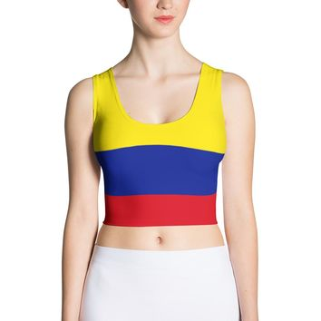 Colombia Flag Women Sublimation Cut & Sew Crop Top