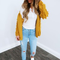 Warm & Snuggly Cardigan: Golden