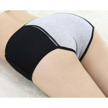 1pc Women's Panties woman menstruation briefs widened prevent Intimates side leakage underpants