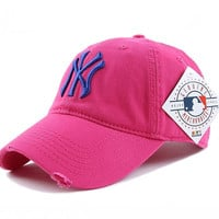 Perfect NY Women Men Embroidery Sport Sunshade Cap Baseball Cap Hat