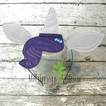 Rare Pony Headband Ears ITH Embroidery Design