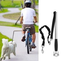 Hoopet Retractable Hands Free Puppy Dog Bike Training Exerciser Pole Leash Handsfree Dog Leash Dog-Collar Pet Animal Accessories