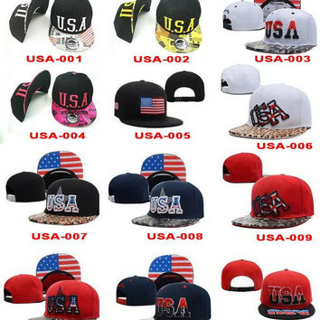 2015 new USA Flag Patch USA American Patriotic Polo Style ADJUSTABLE SNAPBACKs Baseball CAP HAT Caps Hats,Cheap fashion street SNAPBACK cap