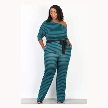 Just One of Them Days Stripe Jumpsuit