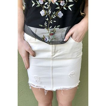"Articles Of Society ""Stacy Mini Skirt""- Cream"