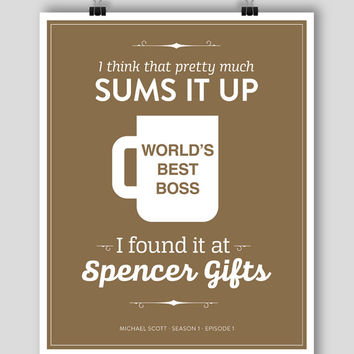 POSTER 8x10 - The Office Michael Scott Quote Season 1 Episode 1 Poster - World's Best Boss #theoffice #dundermifflin #bestboss