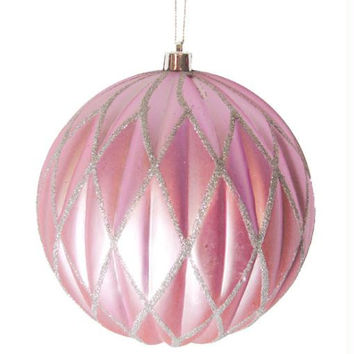 "Christmas Ball Ornament - 6 ""  - Pink"