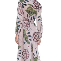 Burberry Prorsum Floral-Print Trench Coat