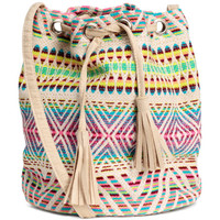 Jacquard-weave Bucket Bag - from H&M