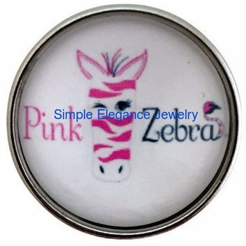 Pink Zebra Distributor Snap  20mm