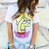 Cartoon Lisa Printed T shirt