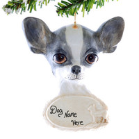 Chihuahua Personalized Ornament - Personalized dog ornament - chihuahua ornament - puppy ornament