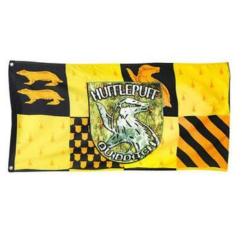 Harry Potter House Hufflepuff Crest Logo Quidditch Hanging Banner Flag - 24x49