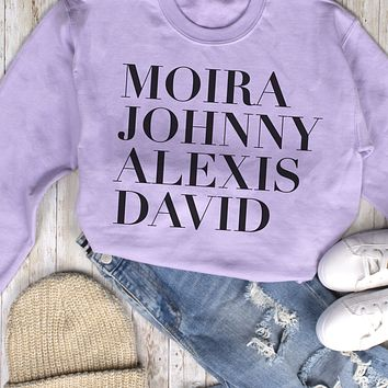Schitt's Creek Name List Sweatshirt